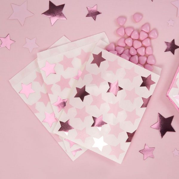 Little Stars Pink Sweetie Bags (25)